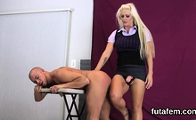 Girls Plow Lovers Anal Hole With Big Belt Cocks And Burst Ju