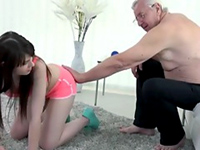 Sexy Teen Housewife Gets Used By Fat Old Man