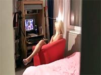 Caught My Slutty Girlfriend Masturbating While Watching Porn
