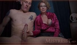 Horny Mature Slut Mistress T Gives Handjob