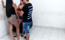 Fingering A Hot Teen In Knee Highs For A Threesome