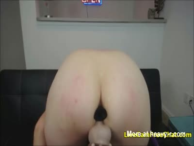 Horny Babe With Big Tits Fucking Dildo Like Crazy