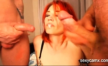 Redhead MILF In Hardcore Anal Threesome Live At Sexycamx