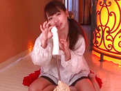 Adorable Japanese Pornstar Is Swallowing Big Love Stick