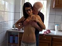 Horny Brunette Teen Seduces Stepdaddy For A Good Fuck