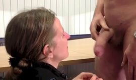 Older CFNM Blowjob