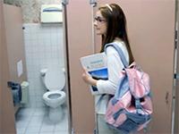 Innocent Nerd Schoolgirl Talked Into Threesome