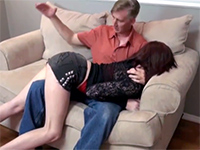 Bend Over Knee Spanking Turns Into Hard Fucking