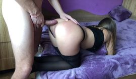 Amateur Girl Gets Anal Doggy Fuck And Gaping Asshole