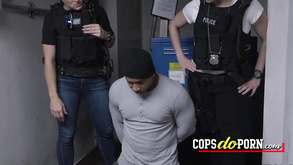 Interracial 3some Orgy With Two Hottie Cops