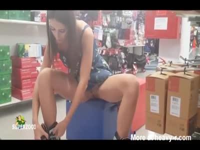 No Panties Shopping