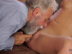 Naked Girl Vienna Reed Frolics With Older Geography Teacher