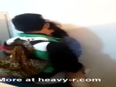 Schoolgirl Having Sex At Toilet In School