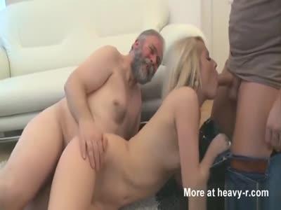 Babe Fucking Grandpa And Boyfriend