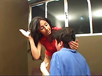 Latin Mistress Was Pissed On Neighbor Guy For Something