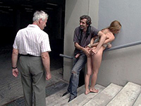 Public Humiliation And Anal Fucking On The Stairs