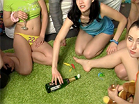Spinning The Bottle Game Turns Into Orgy With Russian Teens