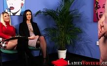 Mistresses In Stockings Mock Loser