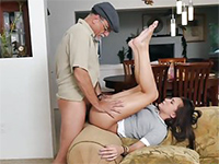 Naughty Teen Babysitter Gets Fucked By A Old Man