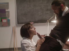Black Teacher Worships Janice Griffith And Drills Tight Pussy