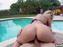 Bald Stallion Fucks And Creampies Diva Ryan Conner By Pool