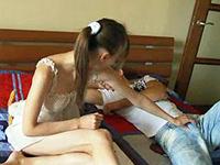 Teen Girl Couldn't Resist Sleeping Boyfriend's Morning Boner