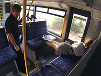 Sleepy Babe Woken And Banged In The Public Bus