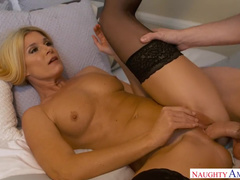 Blond MILF India Summer Seduces Stepson's Friend After Party