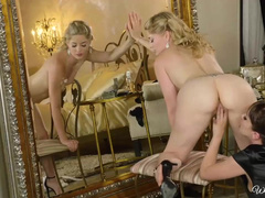 Blonde Passionately Makes Love With Mistress Jenna Sativa