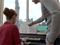 Piano Teacher Gives Extra Lessons