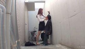 Tall Girl Alley Cfnm Standing Tekoki Handjob