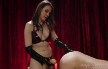 Lusty Mistress Pegging Her Sissy Slave