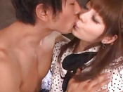 Having A Cock Inside Her Mouth Fills Japanese Chick With Joy
